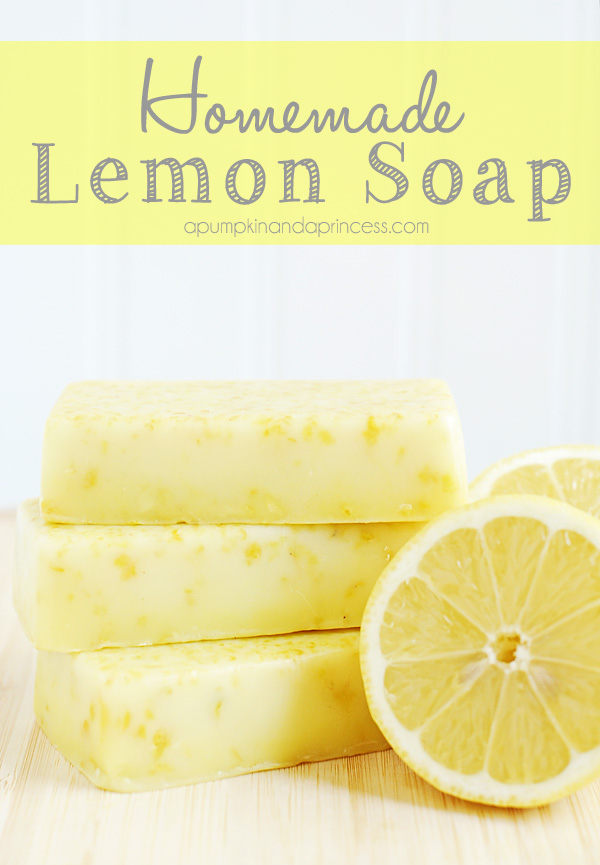 Pretty Lemon Soap Bars make great Handmade Gifts for Mother's Day