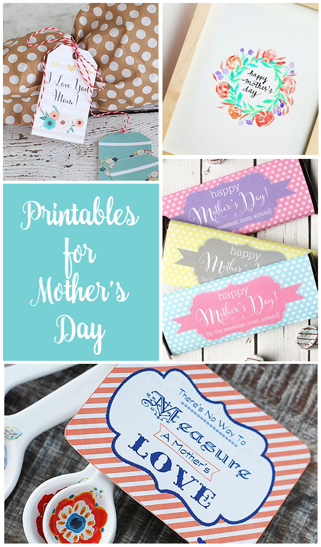 Mother's Day Printables! Printable gift tags, cards, and prints that are perfect for Mother's Day! | Design Dazzle