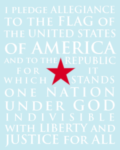 Pledge of Allegiance FREE Printable!!