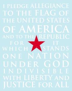 Pledge of Allegiance FREE Printable!!