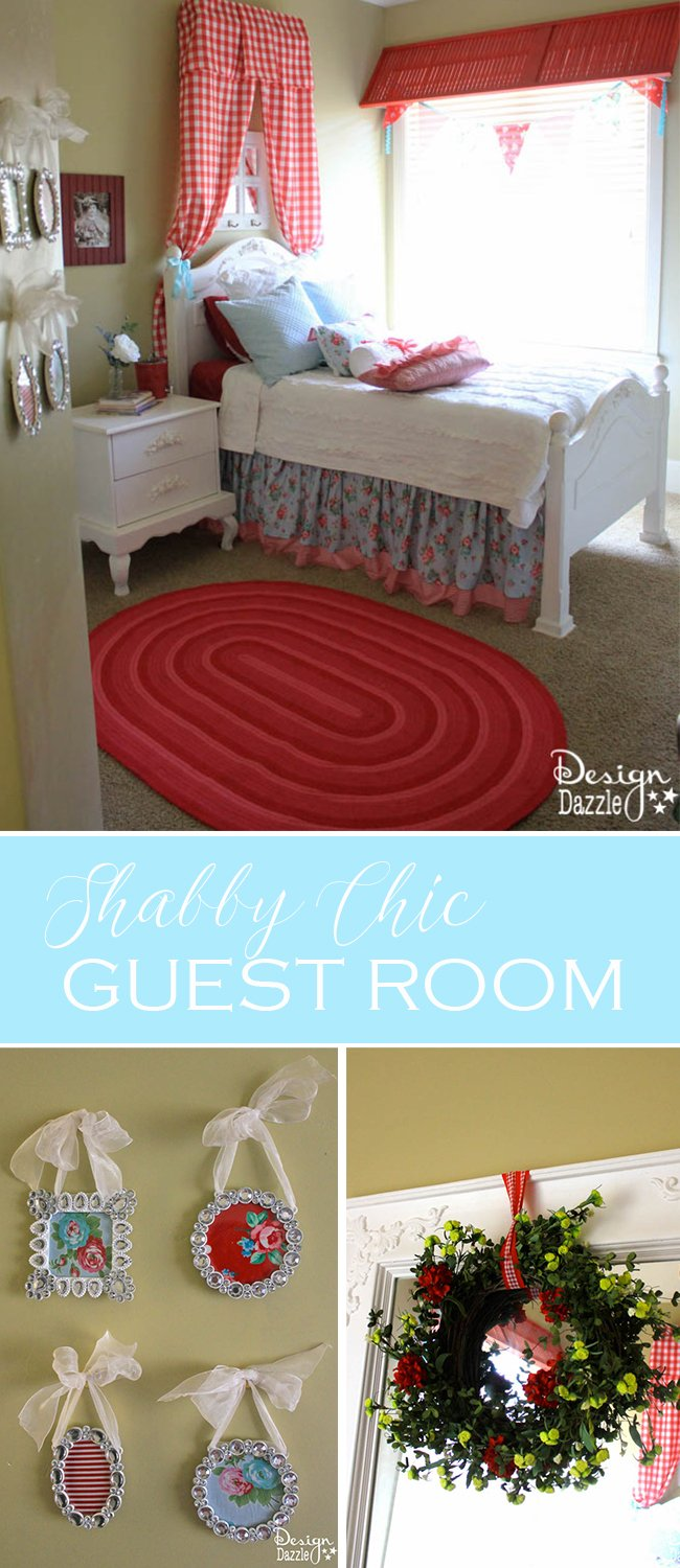 Cheery Shabby Chic Guest Room