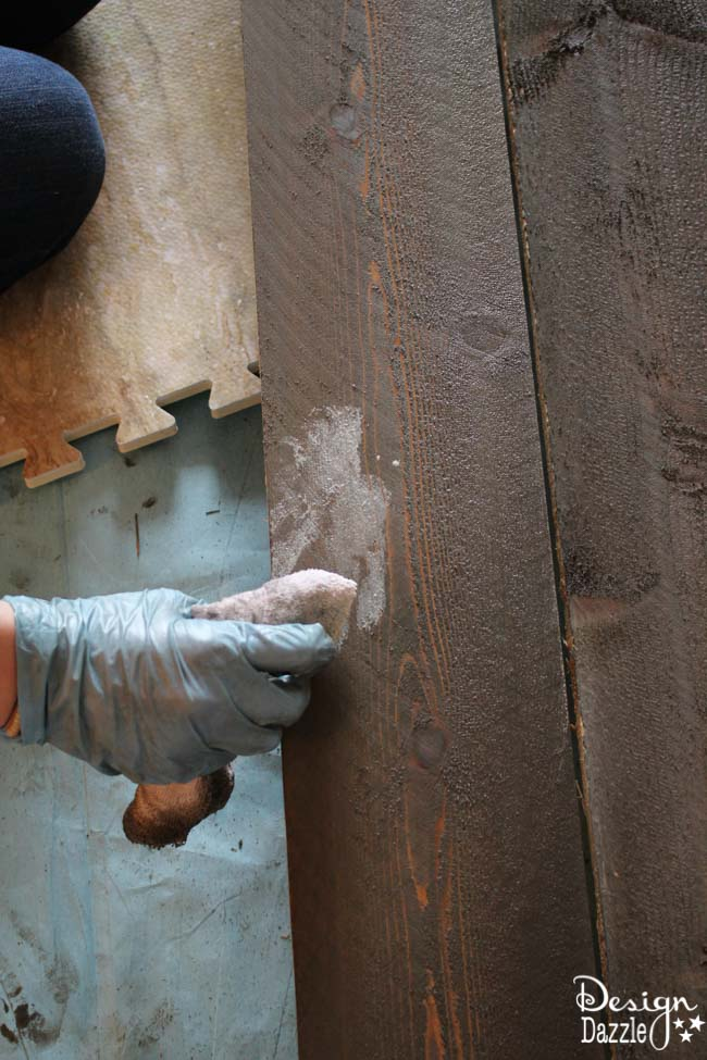 Create A Weathered Rustic Wood Wall With New Wood |Design Dazzle
