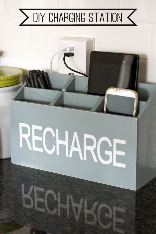 DIY Charging Station for a Guest Room! Genius Guest Room Ideas!