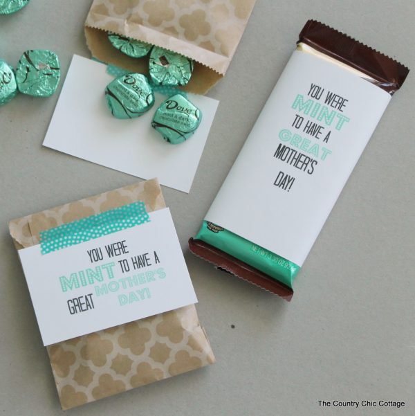 Mint to Be a Mom Mother's Day tags