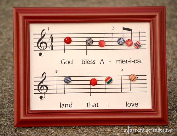 God Bless America music sheet FREE Printable! So unique, I love it!