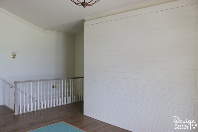 """Entryway Room Makeover complete with sliding wall, """"old"""" vintage doors and refurbished headboard/footboard bench 
