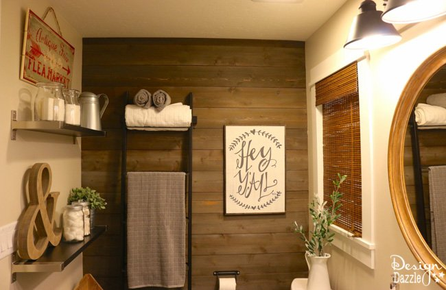Farmhouse Bathroom IKEA Style There Is Just Something About A That Homey And