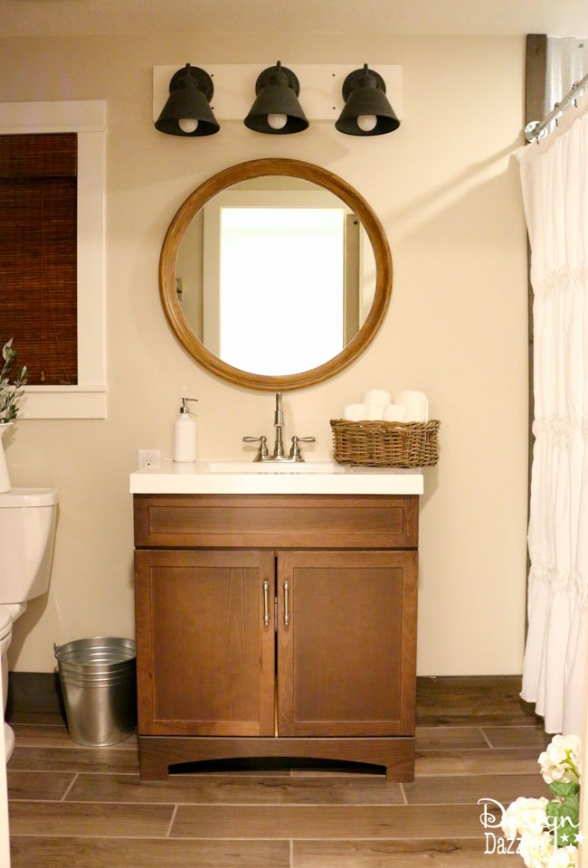 Great Farmhouse bathroom IKEA style There is just something about a farmhouse that is homey and