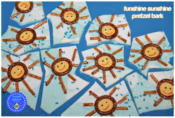 Funshine Sunshine Pretzel Bark! Perfect summer treat for the kiddos