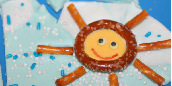 Funshine Sunshine Pretzel Bark! Perfect summer treat for the kiddos