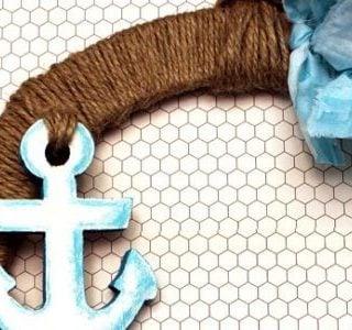Summer Camp : DIY Nautical Anchor Rag Wreath