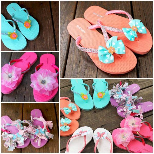 DIY Fashion Flip Flop Summer Craft Idea