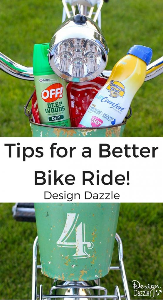 Tips for a Better Bike Ride www.DesignDazzle.com