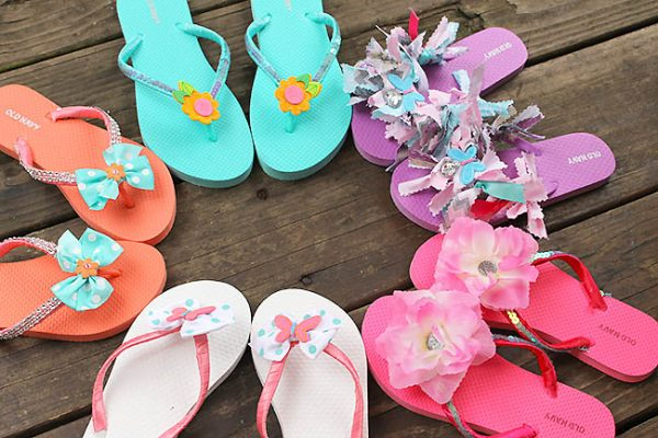 Fun Sumer Flip Flop Craft Idea