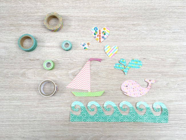 Why buy stickers when you can make them?  These easy DIY washi tape stickers are a great craft project for kids but they are pretty enough that mom will love them too! Perfect for personalizing cards, journaling projects and other artwork!