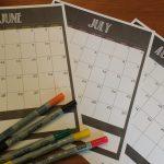 Sanity Saver Summer Calendar