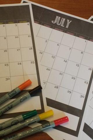 Summer Calendar Free Printable