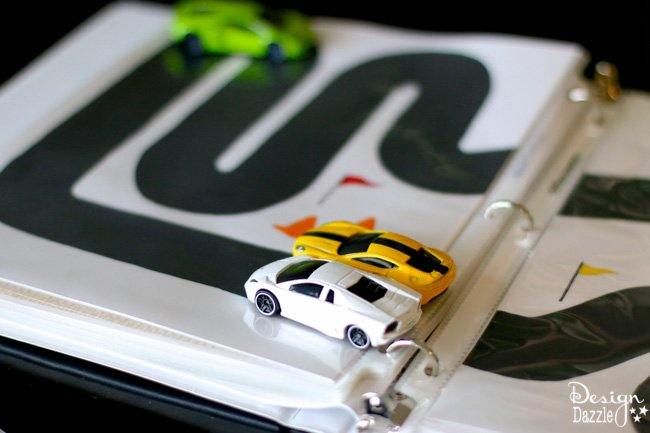 Racetrack Binder printables-Racetrack Binder Free Printables! Summer is the perfect time to start a 3 ring binder for kids games/activities and start getting organized for play and travel. Print the racetrack on cardstock, place in a page protector and put in the binder! Design Dazzle