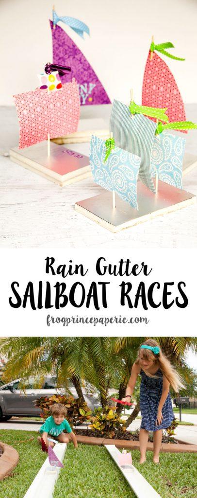 Rain-gutter-sailboat-races