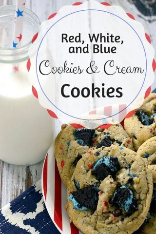 Red, White & Blue Cookies and Cream Cookies