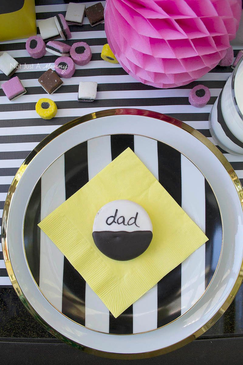 Dad Is All Sorts Of Fun Father's Day Party placesetting
