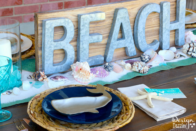 beach tablescape summer celebration-6