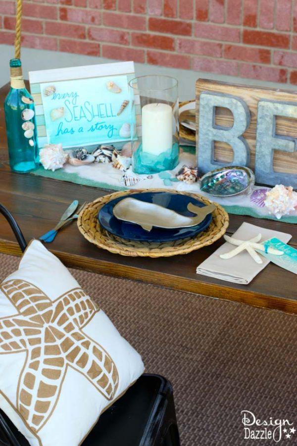 Ideas for a beach tablescape | Design Dazle