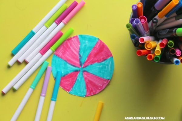 color the circle