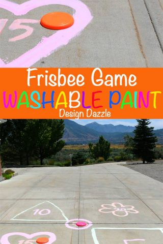 Outdoor Summer Fun with Frisbees and Washable Paint