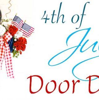 Umbrella 4th of July Door Decor