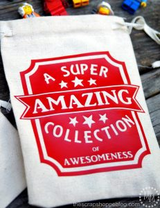 """Make the kids their own Collection Bags! Great for road trip or just storing """"stuff!"""""""