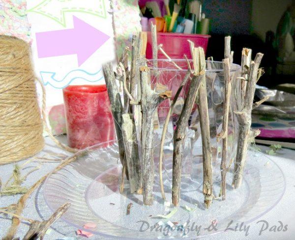 Campsite candle craft