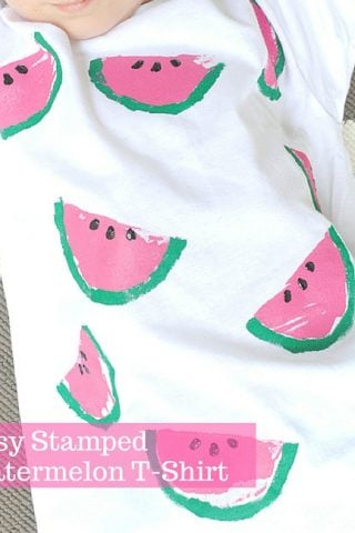 Easy Stamped Watermelon T-Shirt