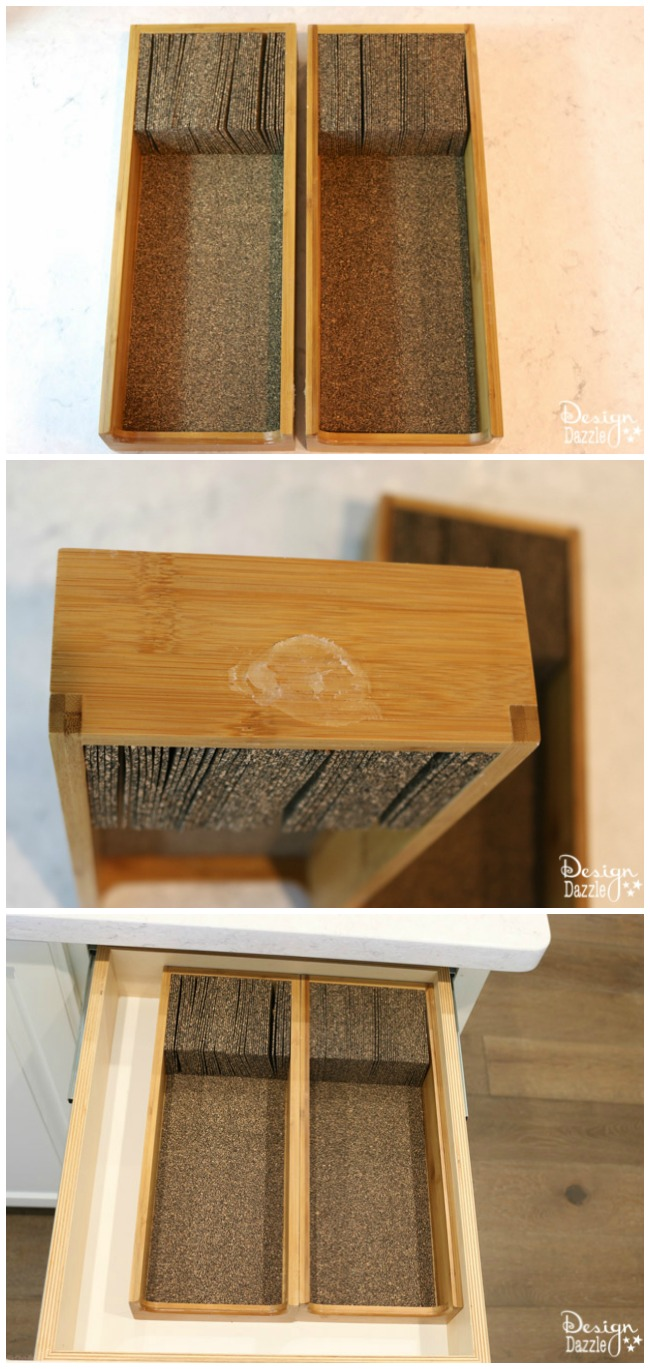 Love this simple kitchen knife drawer solution! | Design Dazzle