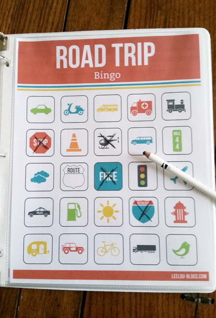 Road Trip BINGO as part of the Road Trip Kit! Perfect for summer vacations!