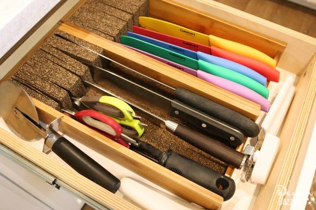 kitchen knife drawer solution | design dazzle Kitchen Drawer Solutions