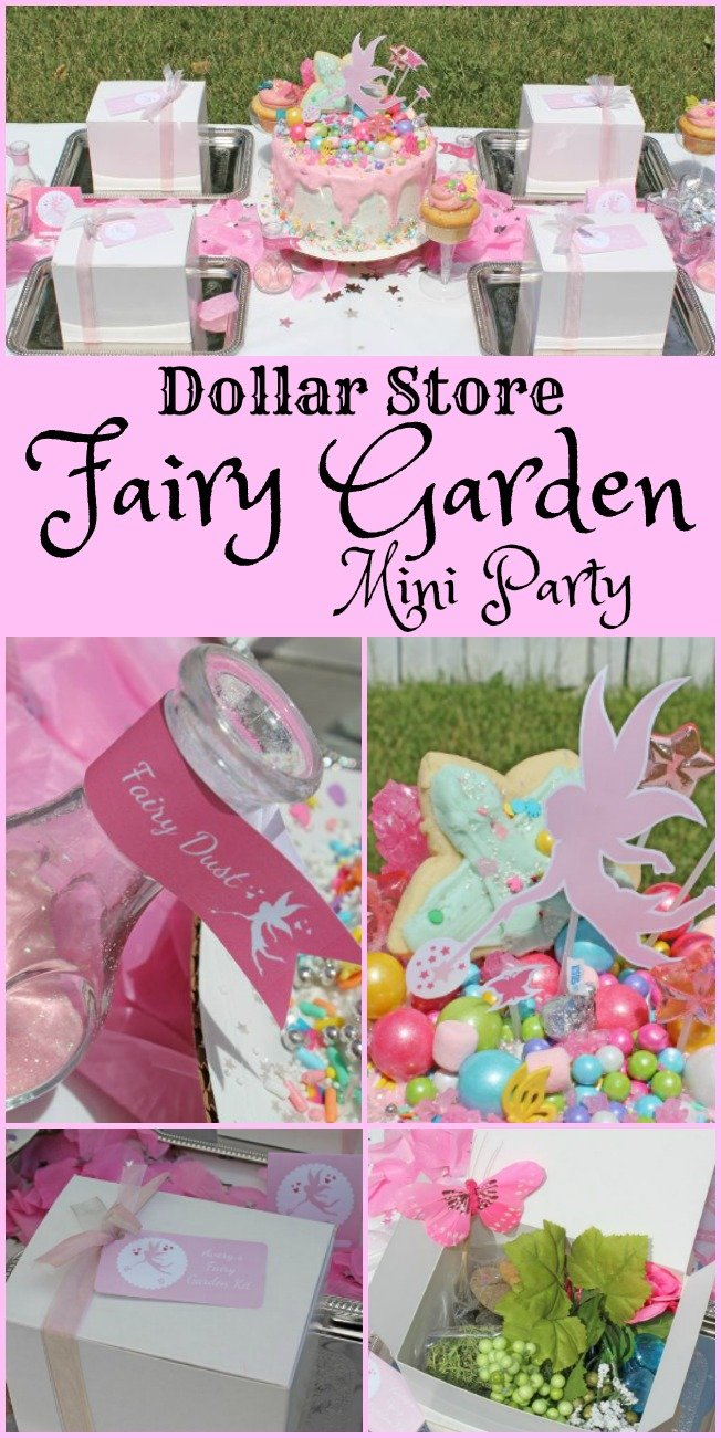 Dollar Store Fairy Garden Party! A sweet little party with adorable decor, food, and activities! All from the dollar store! #kidsparty || Design Dazzle