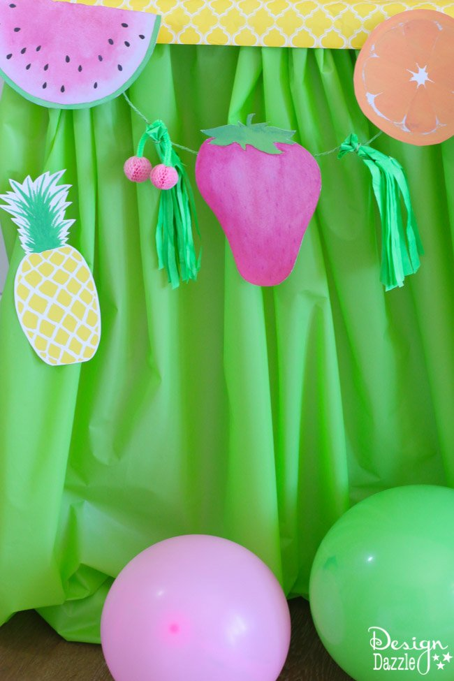 Fruitilicious party ideas with cute tutorials and printables | Design Dazzle