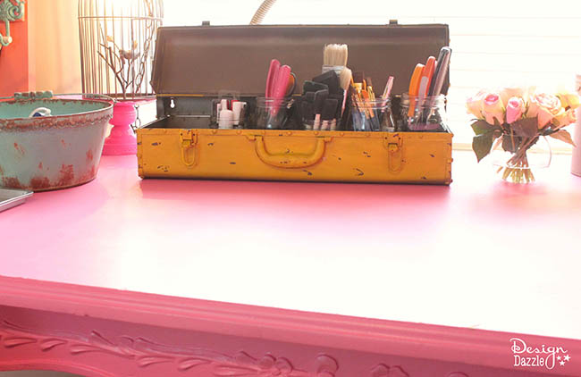 There is nothing I love better than to store my crafts and whatever in unique containers. Sharing a few ideas on unusual containers for the craft room. | Design Dazzle