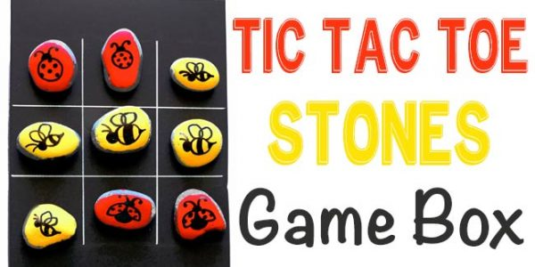Tic Tac Toe Stones Game Box | Design Dazzle