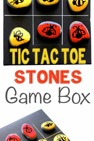 Tic Tac Toe Stones Game Box
