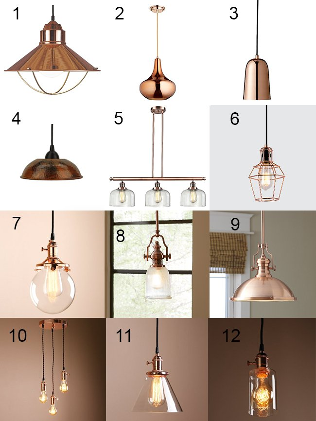 Trendy Copper Light Fixtures