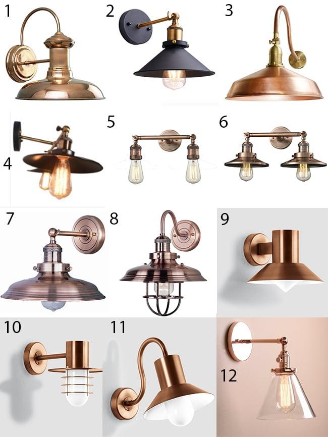 Copper Wall Fixture Lighting
