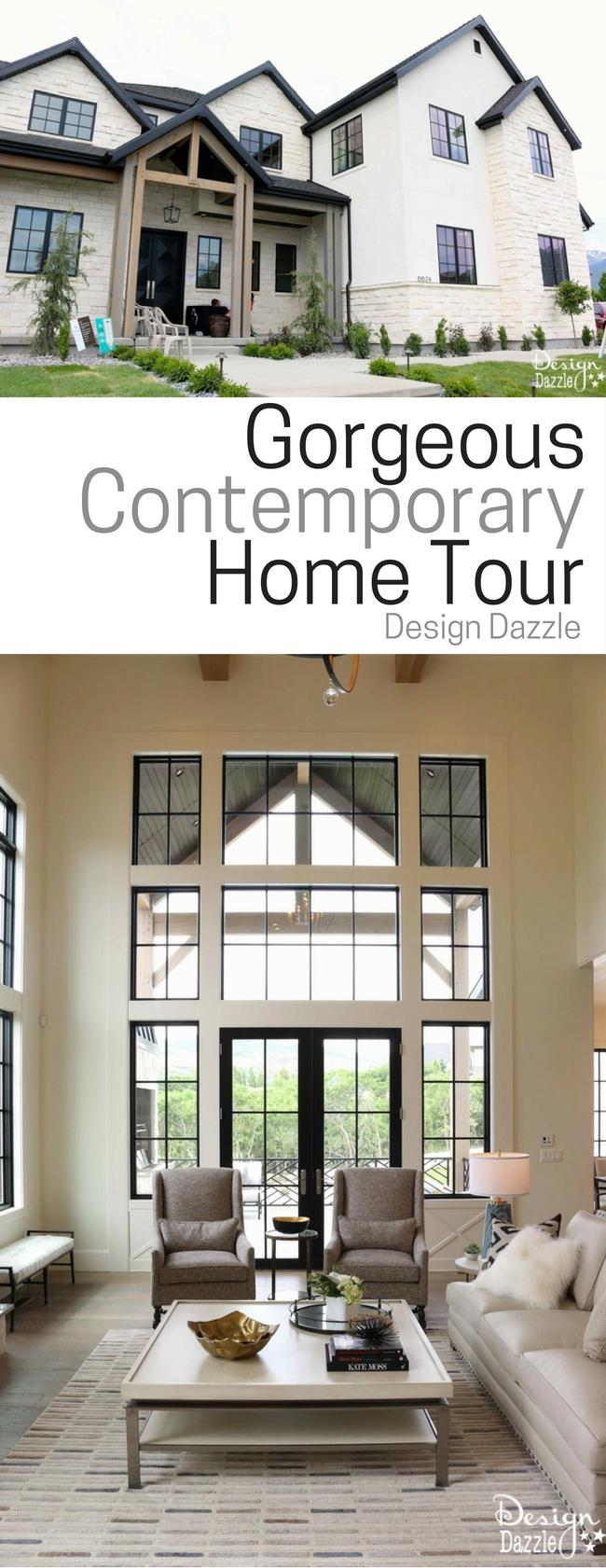 Gorgeous Contemporary Home Tour! Beautiful home decor ideas.  #homedecor | Design Dazzle