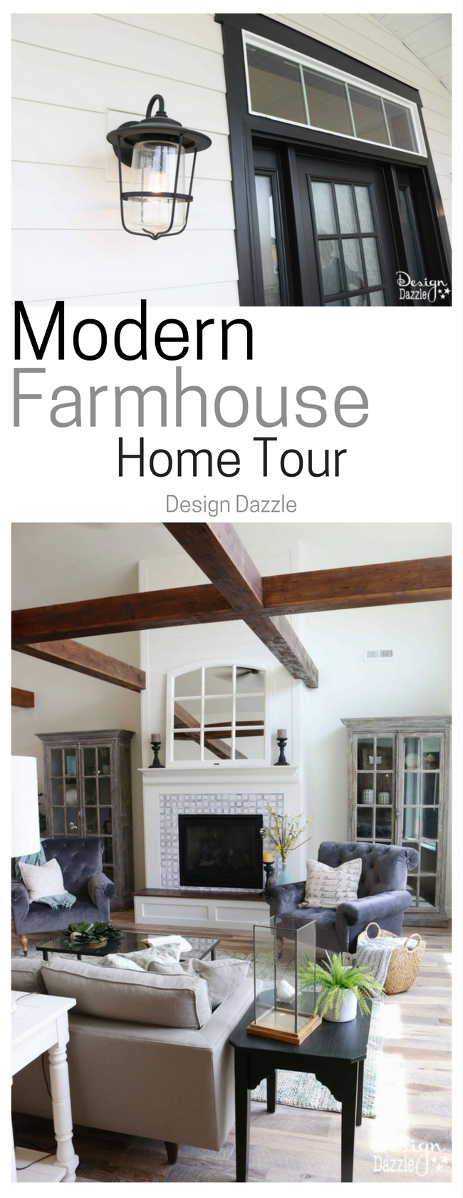 This modern farmhouse home tour is so pretty! | Design Dazzle