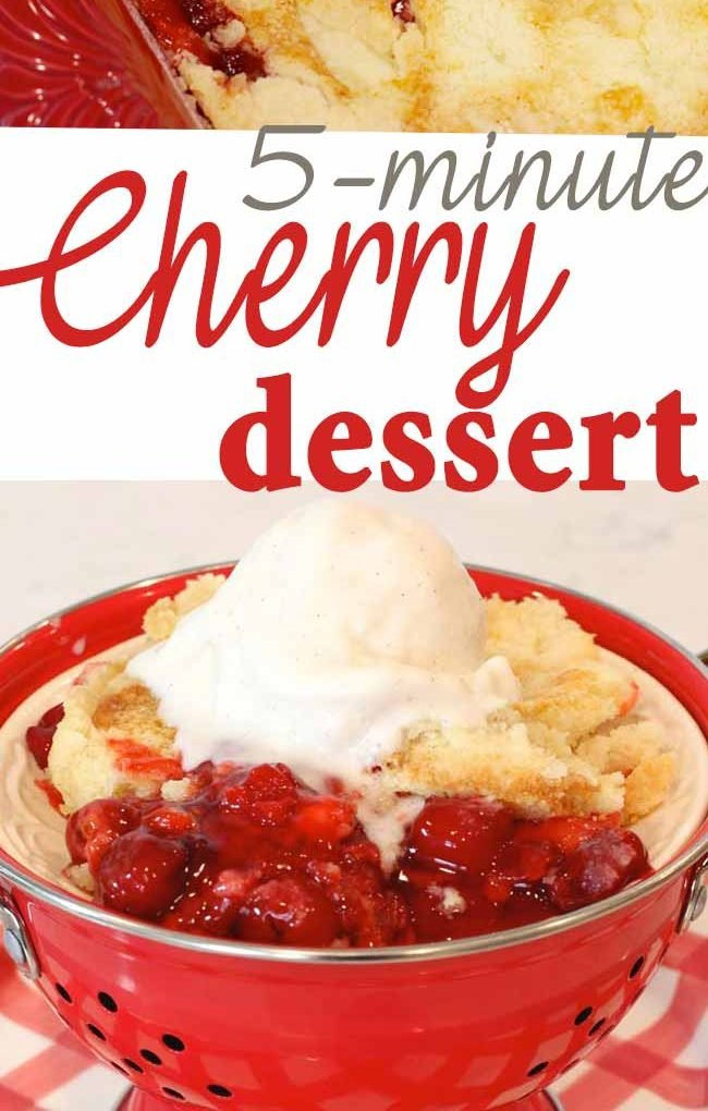 The most delicious 5-minute cherry dessert