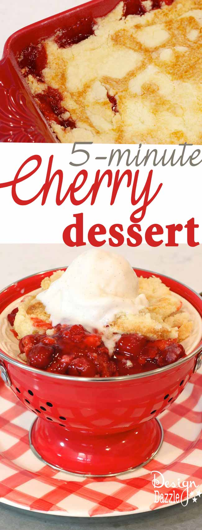 The Easiest Dessert Ever (only 3 ingredients). You will love this dessert - it's super easy and quite yummy!! It only takes 5 minutes to make! | Design Dazzle