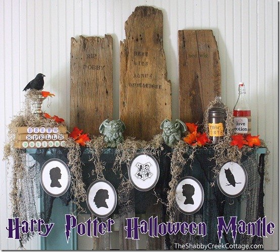 When it comes to the Halloween spirit, what better example could there be than Harry Potter? This post showcases 11 great Harry Potter themed ideas for you to try this Halloween season! #7 would be great Halloween decor and comes with free printables! #harrypotter #halloweendecorations || Design Dazzle
