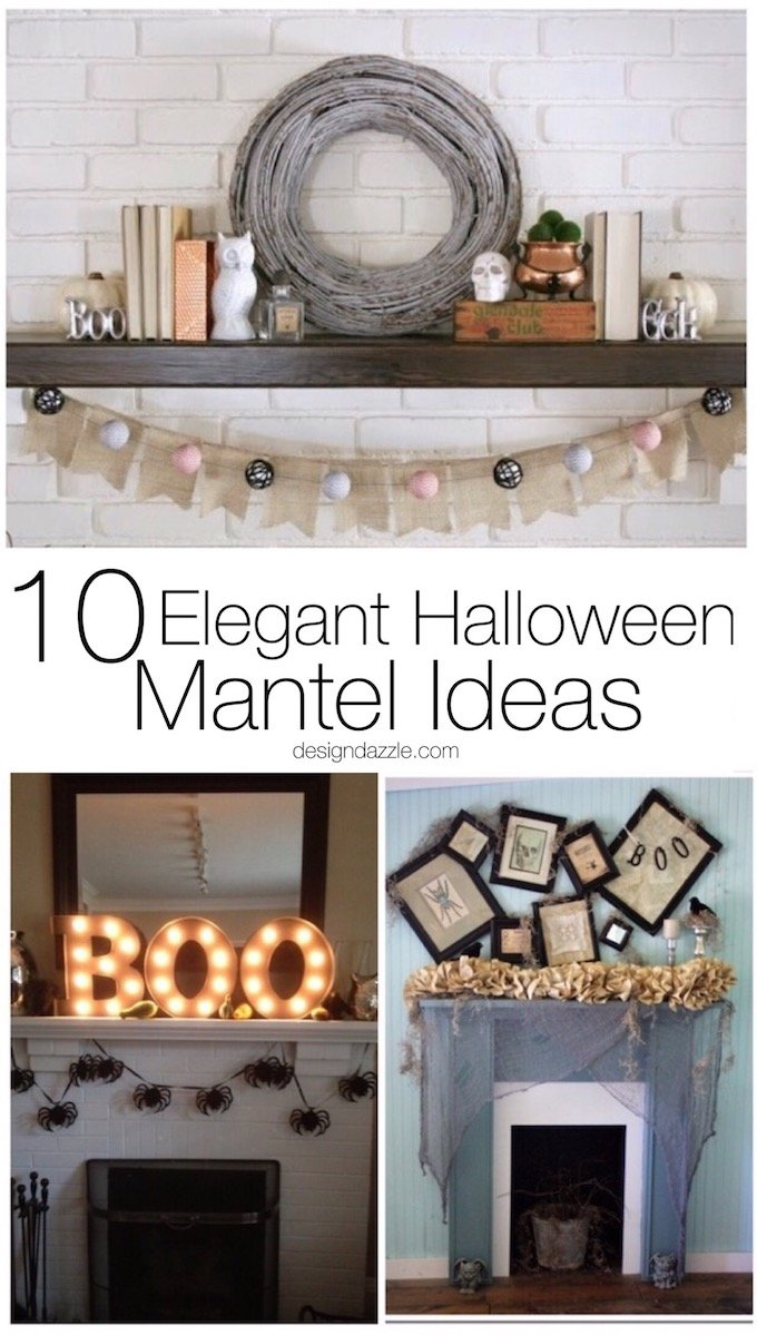 10 of my favorite halloween mantel ideas that are elegant with a dash of spooky and