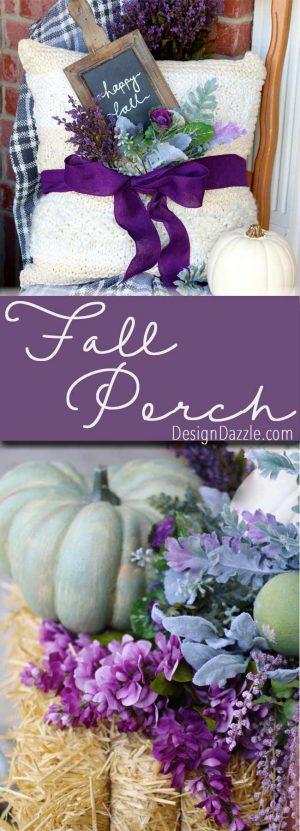 Fall pumpkin porch | Design Dazzle